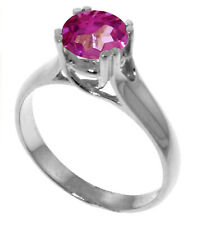 1.1 CTW Sterling Silver Solitaire Ring Natural Pink Topaz