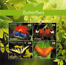 Gambia- 2015 Butterflies on Stamps- sheetlet of 4 MNH