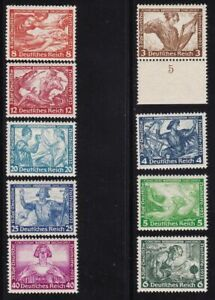 1933 Germany/Deutsches Reich, N° 470-478 Wagner 9 Values MNH