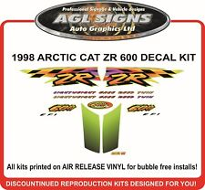 1998 ARCTIC CAT ZR 600 DECAL KIT , reproductions