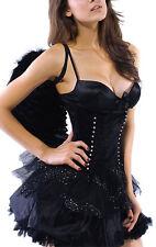Black Angel Dark Black Angel +Wings Costume Carnival Laundry Bags