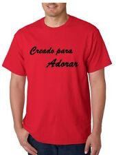 Red T-Shirt Creado para Adorar-Medium