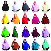 Vogue Womens  Muslim Hijab Amira Islamic Solid Soft Scarf Long Hejab Head Shawls