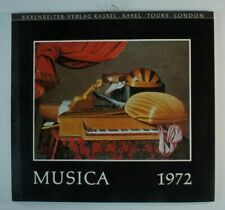 Bärenreiter Verlag Kassel Basel Tours London Musica 1972 Kalender Y4-470