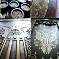 Watlux American Golden Eagl Luxury Wooden Backgammon Leather Pieces Board Game