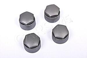 Genuine Wheel Bolt Grey Caps 4pcs 4F0601173AZ37