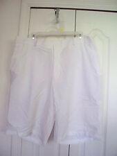 Mens Slazenger $50 Golf Dress  Polyester Spandex Shorts Size 38 WHITE Flat Front