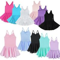 Toddler Girls Ballet Dress Tutu Leotards Dance Gymnastics Strap Clothes Outfits
