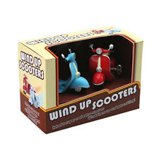 RETRO WIND UP RACING SCOOTERS SET BRAND NEW IN BOX GREAT GIFT
