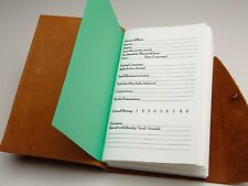 Leather Bound Beer Tasting Journal