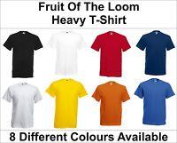 Fruit of the Loom Plain Heavy Cotton t-shirt - Blank Short Sleeve Tee