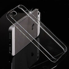 For iPhone 5/5s/5c/SE Gloss Clear Transparent Ultra Thin Hard Plastic Case Cover