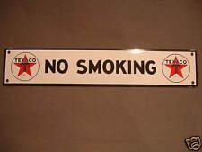 PLAQUE EMAILLEE bombee TEXACO NO SMOKING  EMAIL enamel TIN  sign