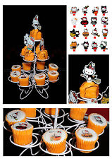 Hello kitty Halloween 16x Fairy Cup Cake Edible Toppers Stand ups *DIY*