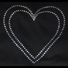 Double Hearts Iron On Rhinestone Transfer