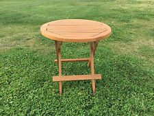 "New Teak Round Folding Picnic Table Grade ""A"" teakwood."
