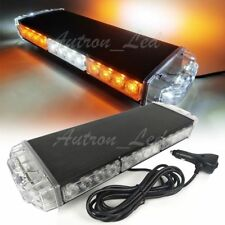 "16"" 30W Amber White LED Warning Emergency Beacon Strobe Roof Top Mini Light Bar"