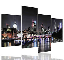 Not Framed Canvas Prints City London Skyline Black Home Decor Wall Art Pictures