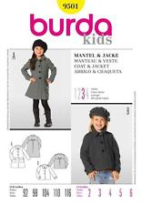BURDA SEWING PATTERN KIDS Coat and jacket based on one pattern  SIZE 2 - 6 9501