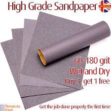 Sandpaper Wet & Dry Grit 60-180 High Quality Best Value Silicone Carbide
