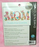 New Dimensions Mom Personalized Counted Cross Stitch Kit Butterflies Flowers