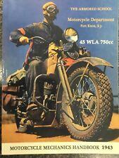 Harley WLA & XA Service Manual Mechanic's Hand Book Color 134 P. 1943