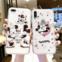 For iPhone XS Max XR 7 8+ Cute Disney cartoon minnie mickey anti-fall phone case