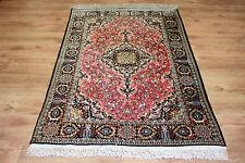 Luxus Perser Teppich Persien Seide auf Seide Gh-om 165 x 106 Wunderschön Top