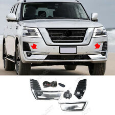 2020 FIT FOR NISSAN PATROL LED FRONT FOG LIGHTS KIT W/ BULBS SWITCH CABLE FRAME