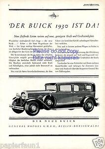 Buick Reklame von 1929 General Motors Berlin Borsigwalde Werbung ad
