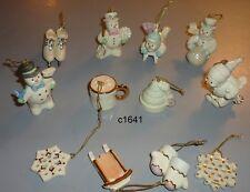 Lenox Snow Pals Winter Set Of 12 Ornaments for generic display tree nib