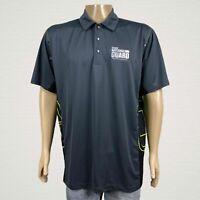 OGIO Nevada National Guard Gray Black Golf Polo Shirt XL Men's Snap Up Polyester
