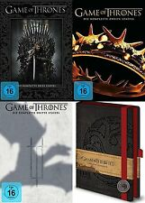GAME OF THRONES Staffel Season 1 2 3 NOTIZBUCH 15 DVD COLLECTION Geschenk Set
