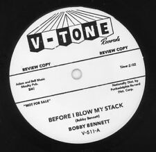 """Bobby Bennett - """"Before I Blow My Stack"""" 1963 Philly R&B 45-small hole-V-Tone"""