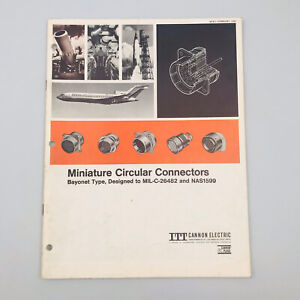 Vintage 1967 ITT Canon  Electric Miniature Circular Connectors Catalog