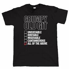 Grumpy Old Git Checklist, Mens Funny T Shirt, Gift for Dad Grandad