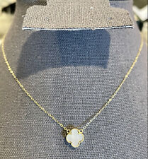 18k solid gold necklace with clover pendant