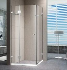 1100 X 1100 MM SQUARE OPEN DOOR FRAME-LESS PIVOTING  SHOWER SCREEN
