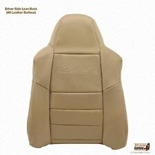 02 - 04 Ford Excursion 7.3L Turbo Diesel Driver LEAN BACK Leather Seat Cover Tan