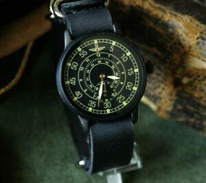 Men's Mechanical Wrist watch Pobeda Pilot Wings Soviet USSR MILITARY ZIM