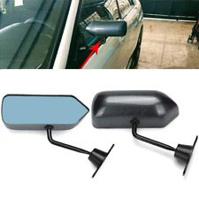 1 Pair Left+Right F1 Style Manual Adjustment Carbon Fiber Car Racing Side Mirror