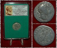 Roman Empire Coin MARCUS AURELIUS  Seated Concordia On Reverse Silver Denarius