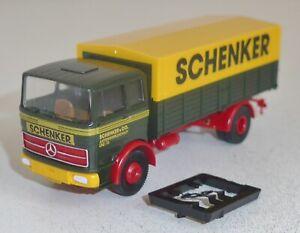 """Brekina 81034 Mercedes-Benz LP 1418 Pritsche/Plane """"SCHENKER"""" 1:87"""
