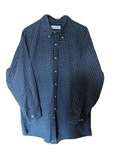 Brooks Brothers Men Button Up Shirt Blue Striped Size 17 32/33