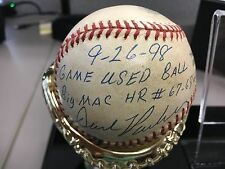 Incredible Mark Mcgwire 67-68th Home Run Game Used Signed Inscribed Baseball PSA
