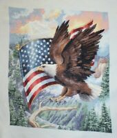 """""""Flight of Freedom"""" Eagle Flag Dimensions Gold Collection Cross Stitch Completed"""