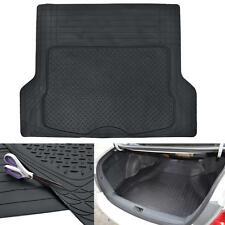 Black Odor-Free Trimmable Rubber Tough Cargo/Trunk Liner Mat for Cars SUVs Vans