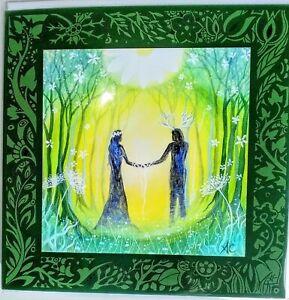 Amanda Clark valentines Pagan Card handfasting wedding wife engagement medieval