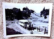 VINTAGE REAL PHOTOGRAPH RAILROAD SKUNK SCOTIA CA TRIP 1961