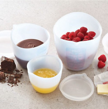 Pampered Chef : Silicone Prep Bowl Set - measurement, with a lid